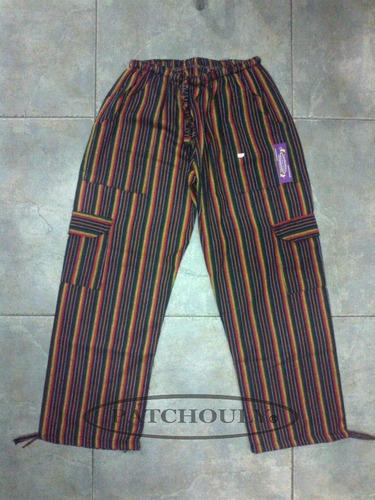 pantalón bali, rayado, artesanal, multicolor, unisex adultos