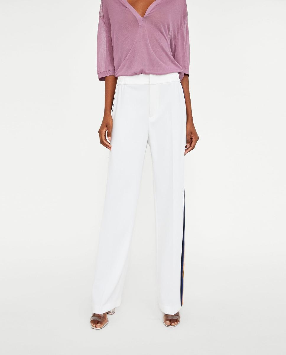 pantalon blanco zara mujer