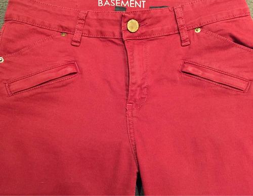 pantalón basement talle 38 bordo una sola puesta como nuevo!