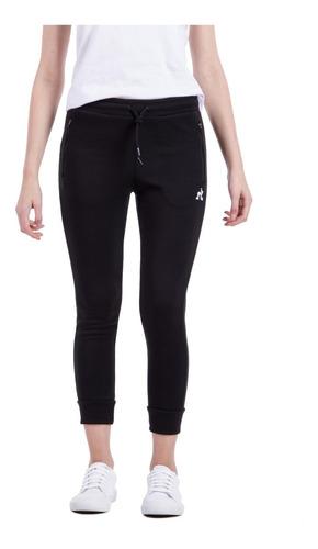 pantalon basic negro mujer le coq sportif