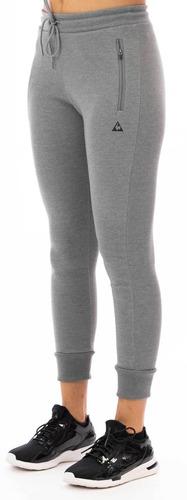 pantalon basic sporty gris claro mujer le coq sportif