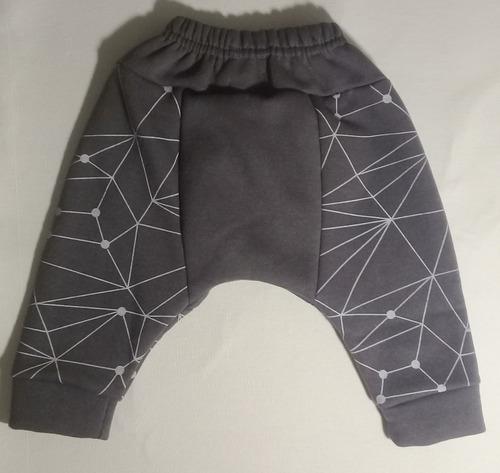 pantalón bebé babucha buzo algodón gris tipo hombre araña