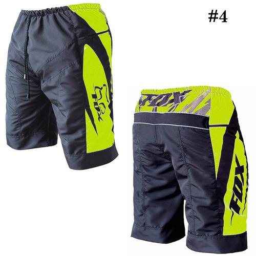 pantalón bermuda short con badana mtb  bicicleta