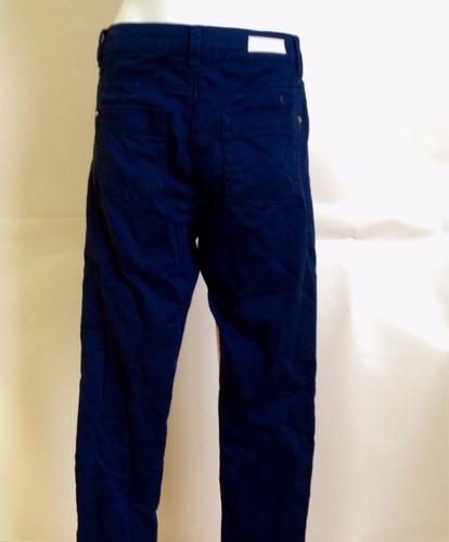 pantalón bershka azul marino entubado