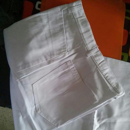 pantalon blanco caballeros talla 28
