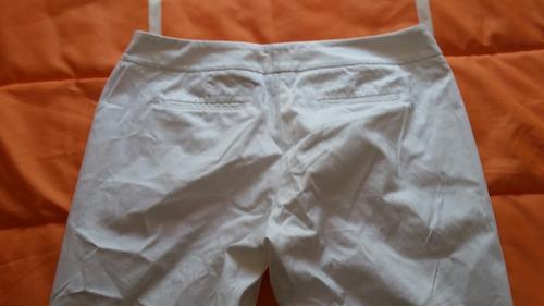 pantalon blanco new york dama talla 12 color blanco!