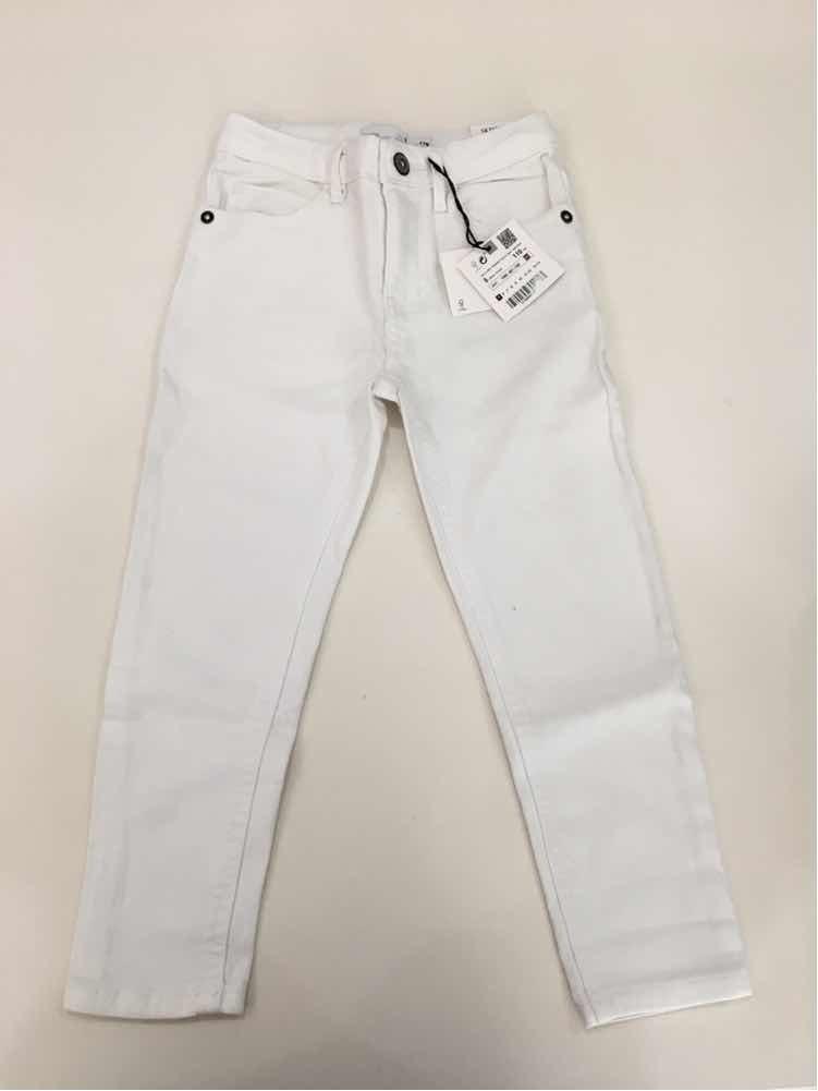 zara kids pantalón blanco niño