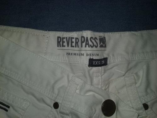 pantalon blanco rever pass talle 26 xxs impecable