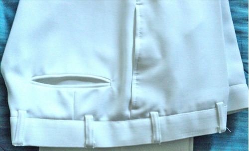 pantalón blanco uniforme escuela naval impecable