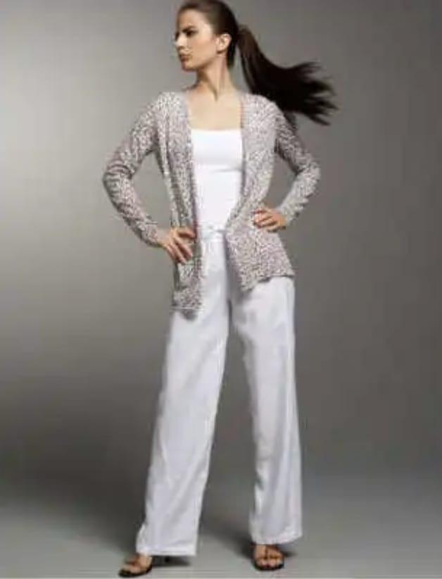 5d3c8e421bfb Pantalon Blanco Verano Mujer - $ 390,00 en Mercado Libre