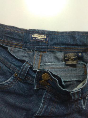 pantalon blue jeans de dama new horse talla 16 usado