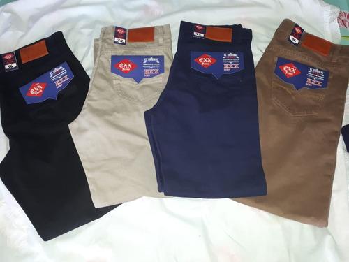 pantalón caballero corte básico gabardina varios colores