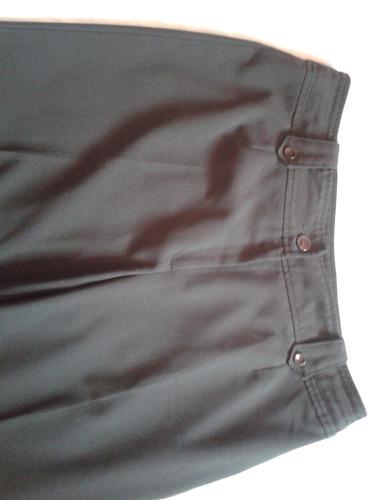 pantalón café oscuro talla grande, muy elegante!