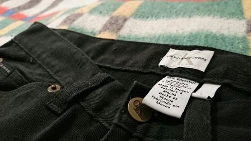 pantalón calvin klein negro talla 29 recto ajustado