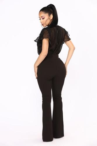 pantalon calza oxford tiro alto de mujer