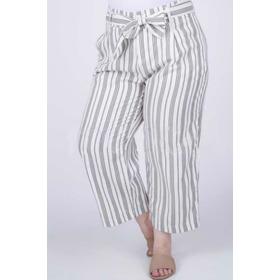 Pantalon Capri Rayado Talles Grandes/especiales