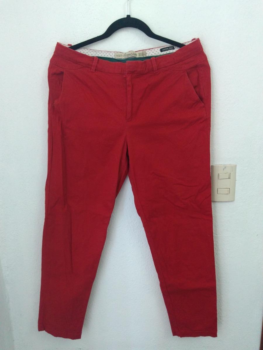 Pantalón Capri Zara Trf Rojo 3040 #454 Bazarqro