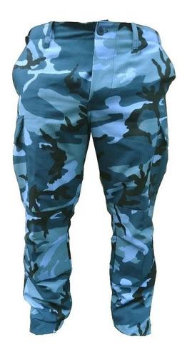 pantalon cargo camuflado urbano azul camo spb