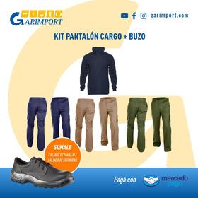 Pantalon Cargo De Trabajo + Buzo Polar