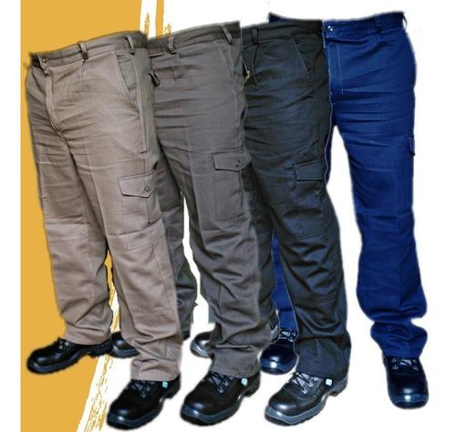 pantalón cargo de trabajo  tipo grafa  8 oz.talle 38 al 48