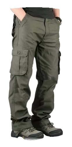 pantalon  cargo gabardina pre lavada for men hard work