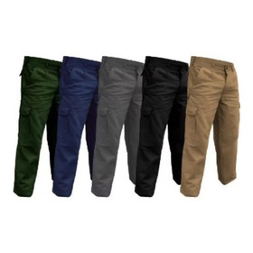 Pantalón Cargo Hombre Trabajo Colores Varios