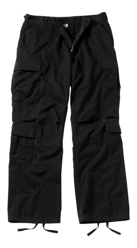 pantalon cargo negro rothco talle s