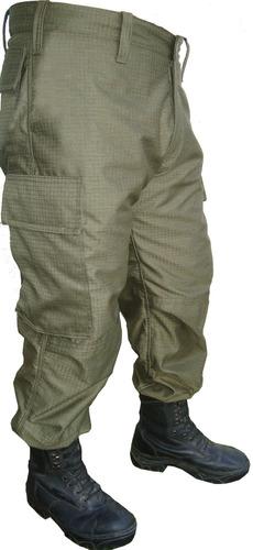 pantalón cargo reglamentario g.n telas rip stop y gabardina