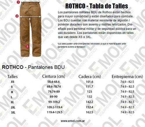 pantalon cargo tactico rothco rip stop antidesgarro original