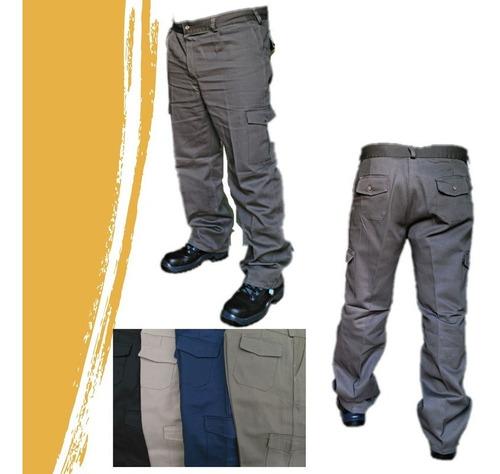 pantalón cargo tipo grafa, seis bolsillo talles 40 al 60