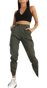Verde Beige Negro Mujer Pantalón Fw19 Tendencia Cargo wPXONZn0k8