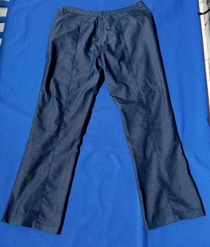 pantalón casual de dama talla grande plus 2xl azul poco uso
