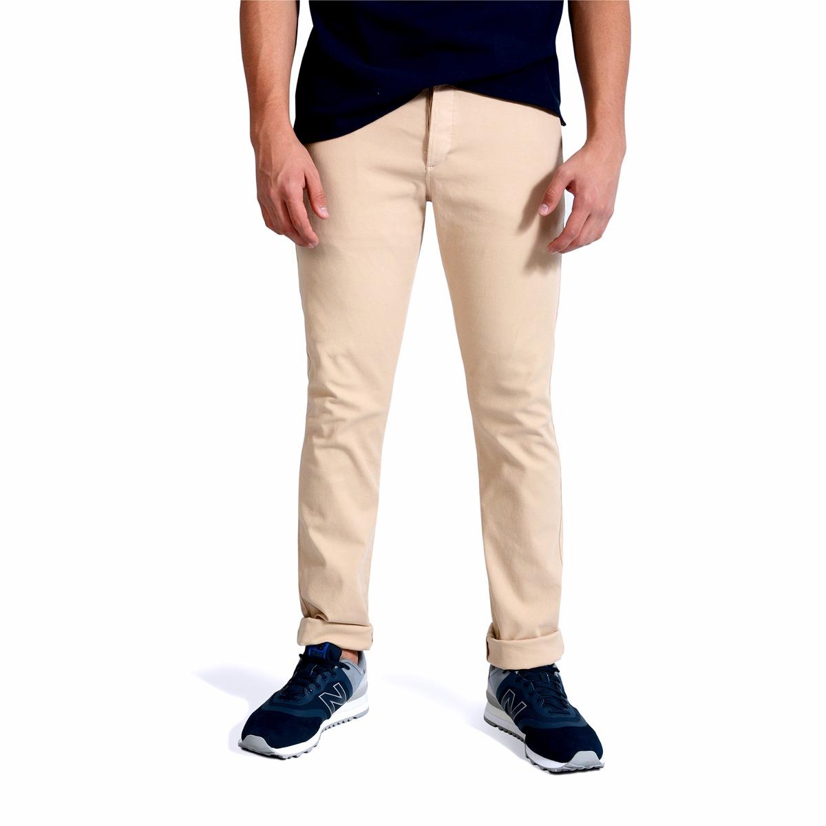 bd77c97358 Pantalon Cavalier Color Siete Para Hombre - Beige -   189.900 en ...