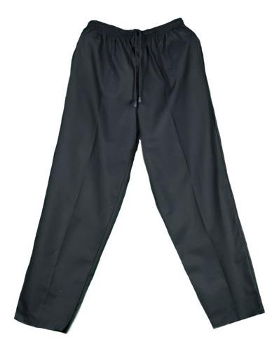 pantalón chef, holgado, resorte completo, ligero, negro