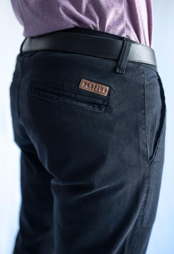 pantalon chino chupin de hombre, gabardina elastizada, color