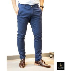Pantalón Chino Chupin Semi Elastizado - Azul - El Capo