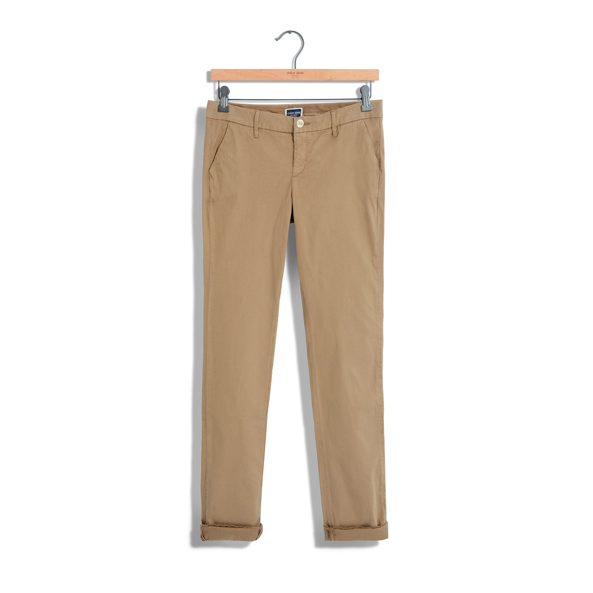 46b2039a12 Pantalon Chino Color Siete Para Mujer - Cafe -   169.900 en Mercado ...