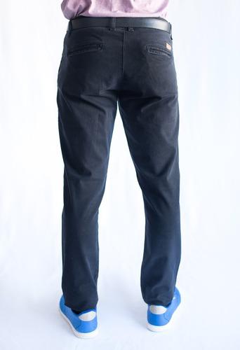 pantalon chino x 2u, hombre, gabardina elastizada