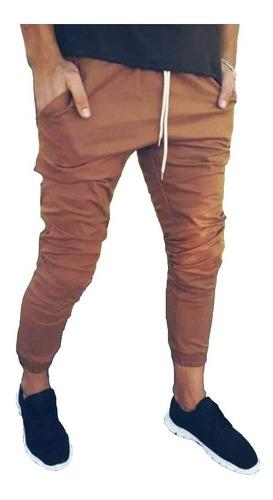 pantalón chupin babucha entallado jogging gym hombre