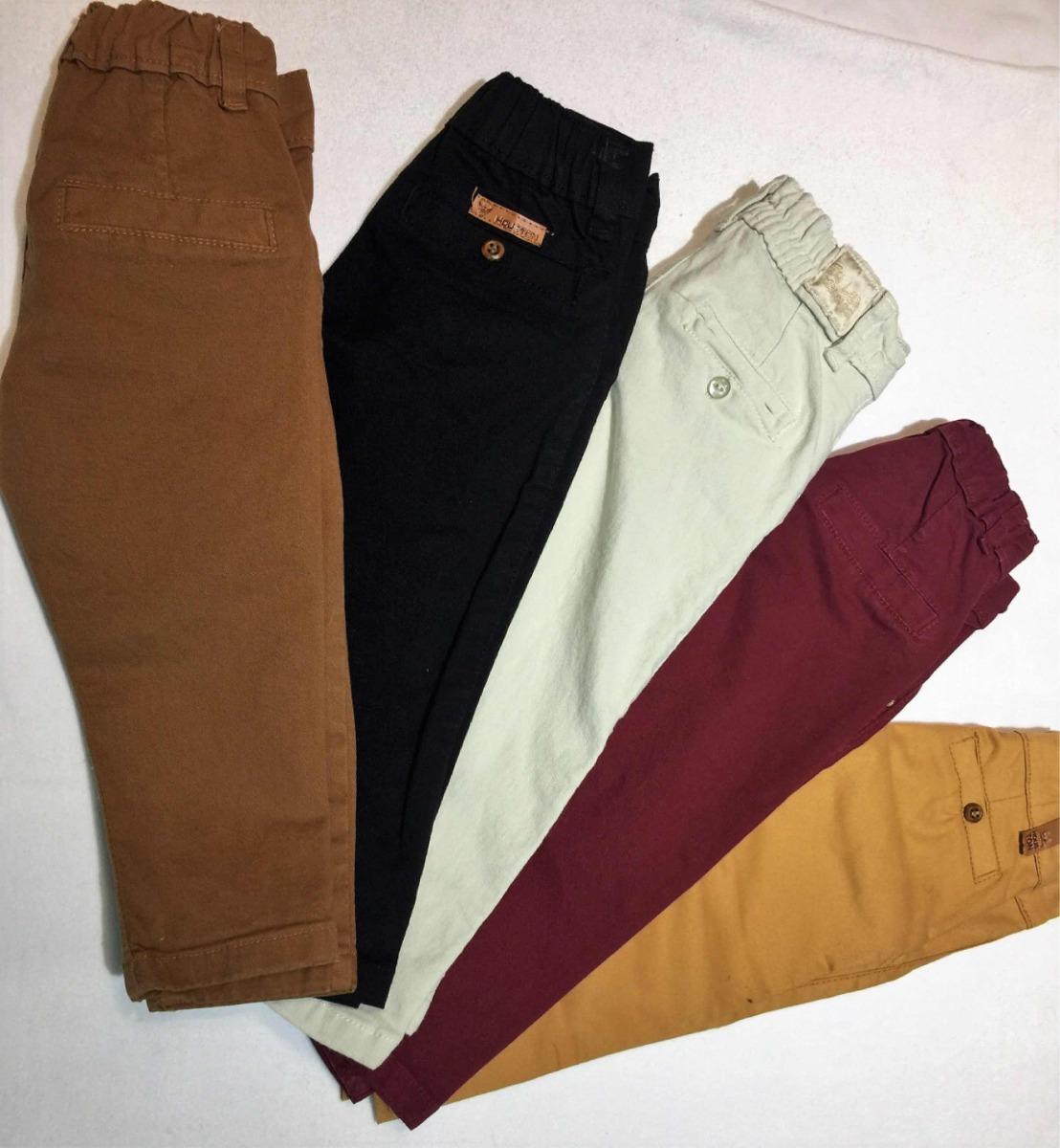 5e4142b5b pantalon chupin de bebé bolsillo chino gabardina elastizada. Cargando zoom.
