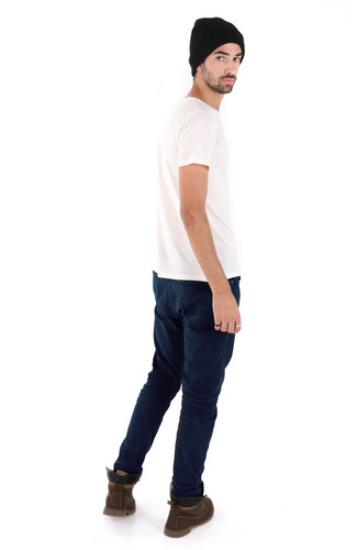 pantalón chupin de hombre-gabardina afelpada-marca chai.