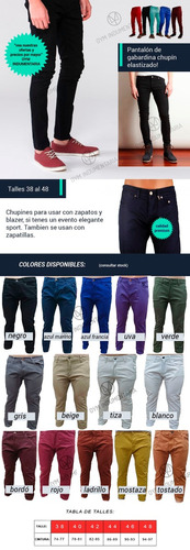 pantalon chupin hombre jean