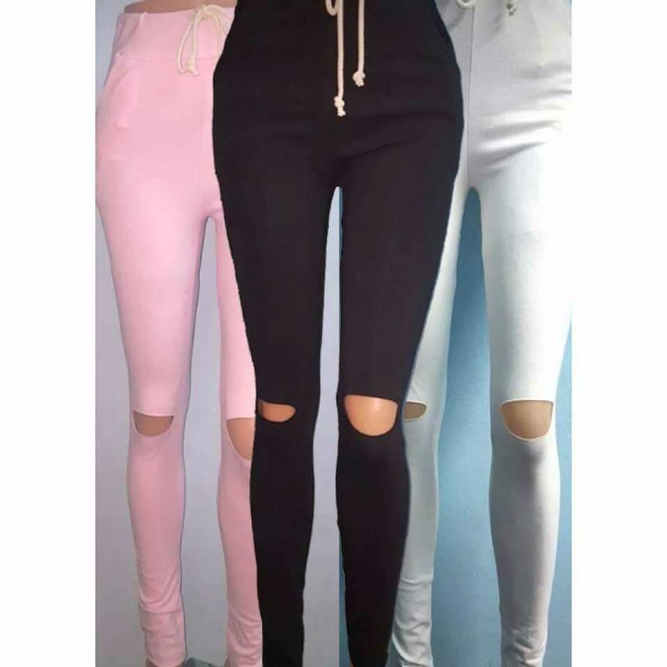 último diseño Moda modelos de gran variedad Pantalon Chupin Mujer Algodon Lycra Elastiza Con Bolsillos