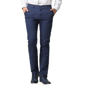 Pantalon Chupin Saten Hombre Pantalon Vestir Bolsillo Chino