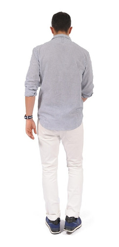 pantalón cleverlander color siete para hombre - blanco