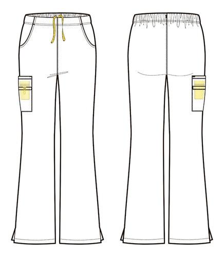 pantalón clínico mujer negro (5026a)