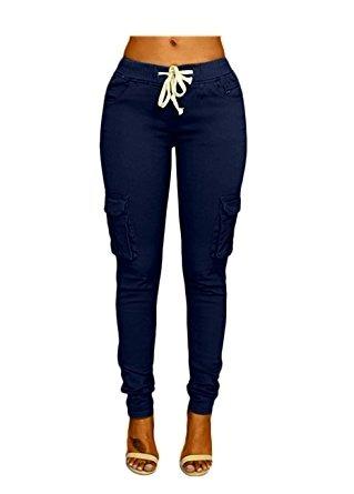 Pantalón Color Azul Marino Para Mujer Marca Oluolin Talla M ... 92b3e8360c76