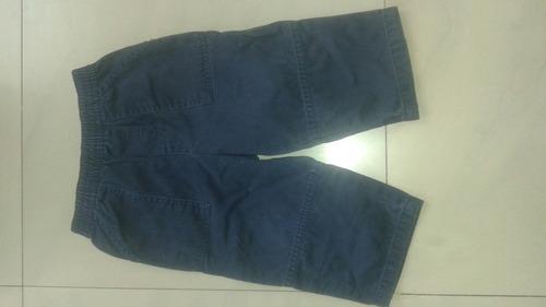 pantalon color azul para niño talla 18 meses usada