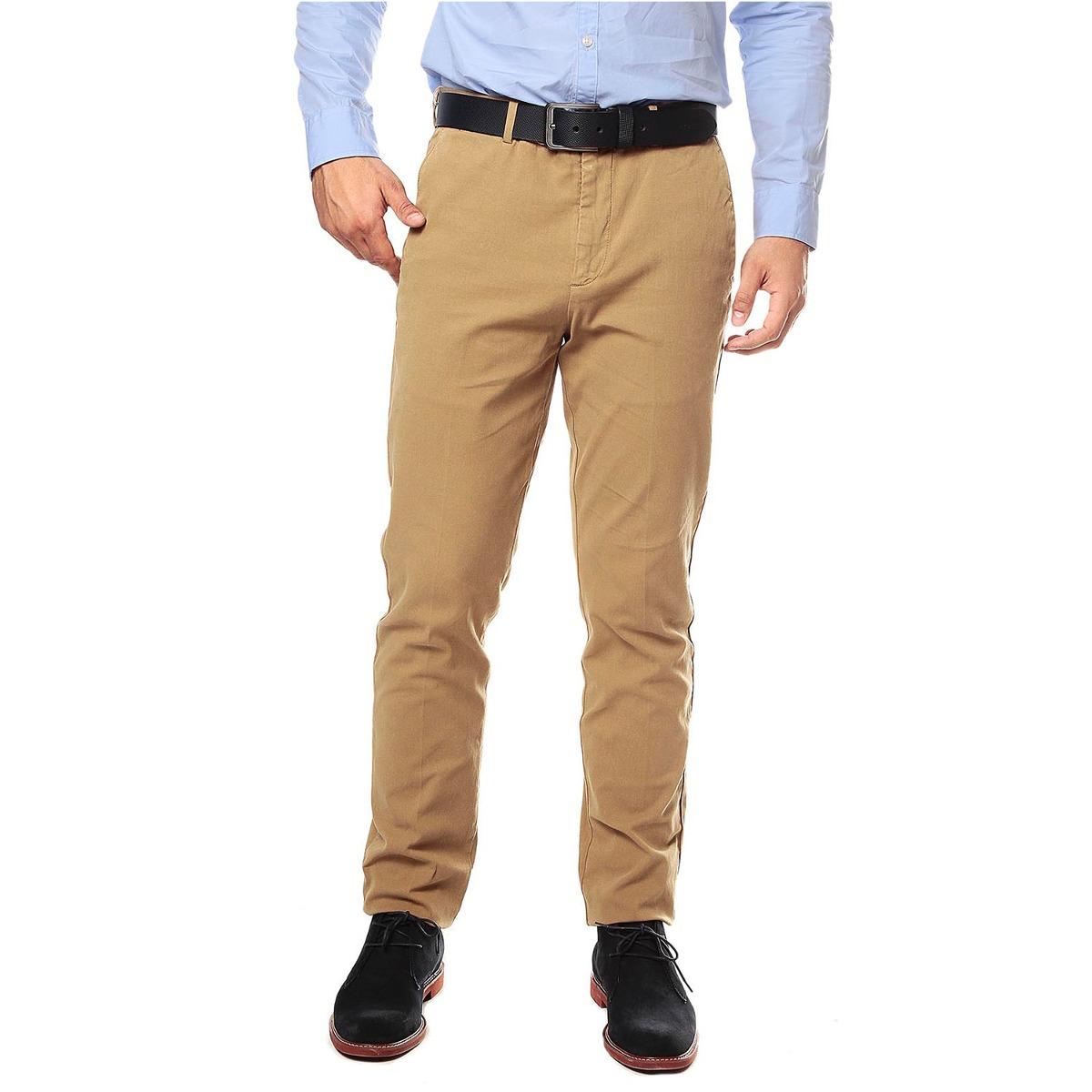 ffac0ca15b Pantalon Color Siete Para Hombre-amarillo -   129.900 en Mercado Libre