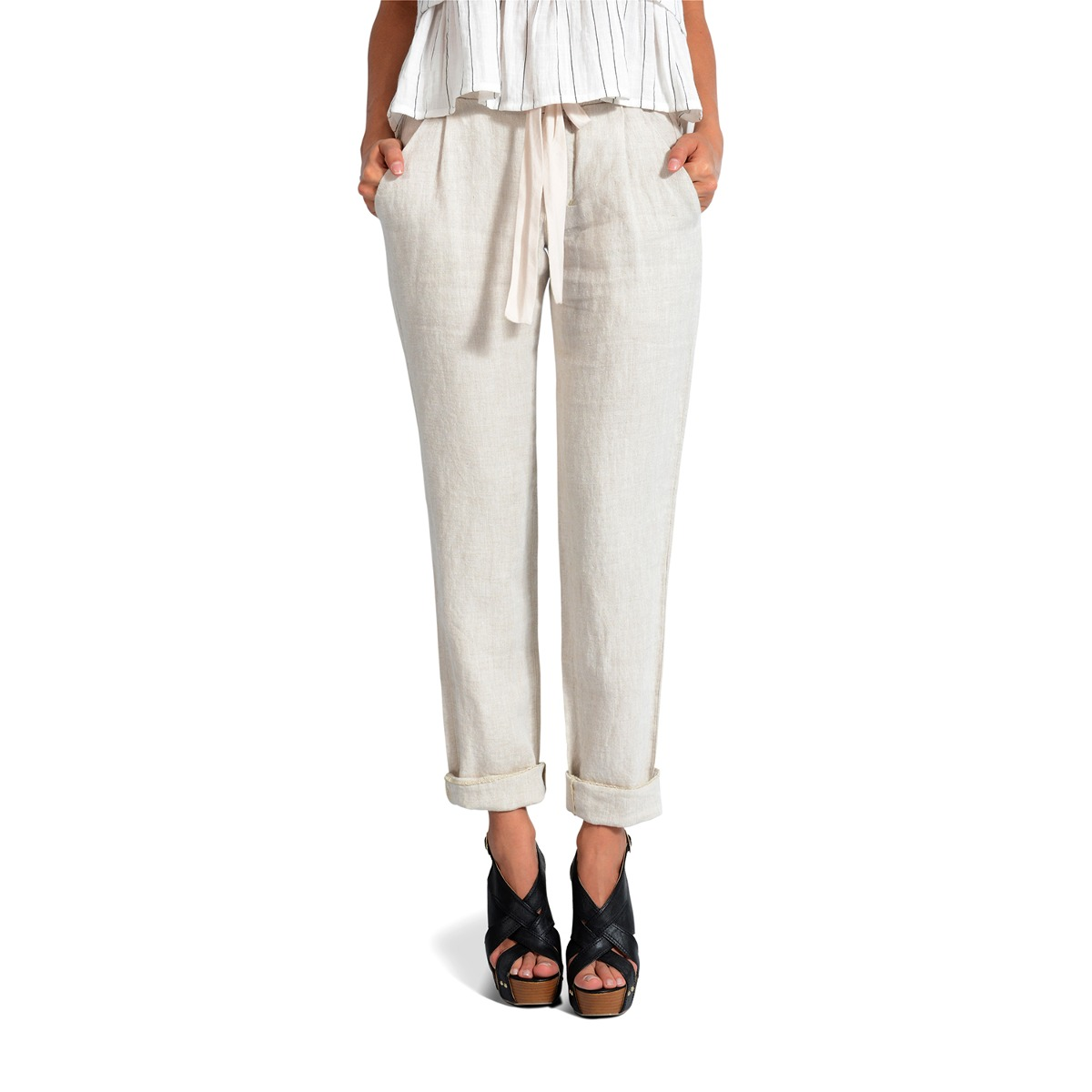 Pantalon Color Siete Para Mujer - Beige -   89.900 en Mercado Libre 257f875309d3